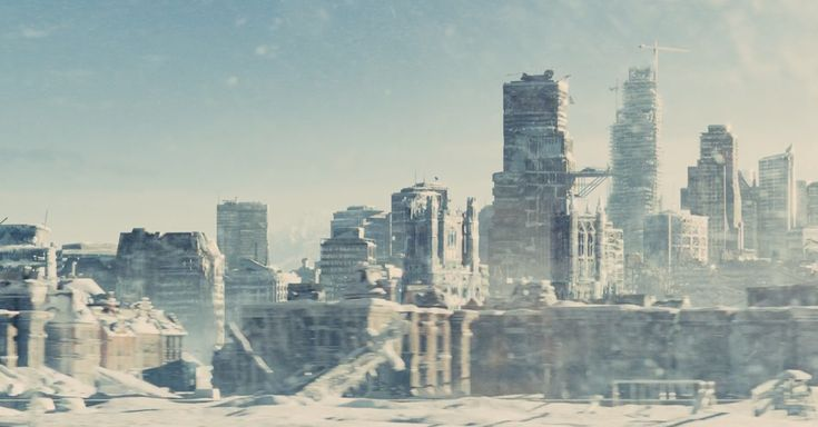 """Because the frozen landscape outside the train is gorgeous and creepy. 