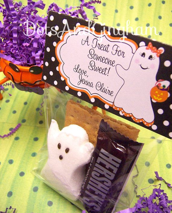 Halloween Treat Bag TopperPrintable Halloween by DotsAndGingham