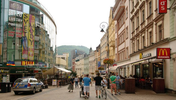 Karlovy Vary is a spa city situated in western Bohemia, Czech Republic, on the confluence of the rivers Ohře and Teplá, approximately 130 km (81 mi) west of Prague (Praha). The Karlovy Vary International Film Festival is a film festival held annually in July.