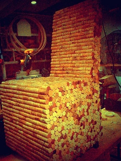 made  from wine corks