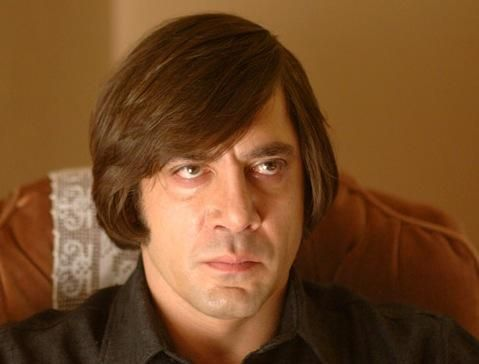 """And you know what's going to happen now. You should admit your situation. There would be more dignity in it."" - Javier Bardem as Anton Chigurh, ""No Country for Old Men.""Film Image, Anton Chigurh, Greatest Film, Old Men, Movie Character, Anton Sigur, Javier Bardem, Film Villians, Country"