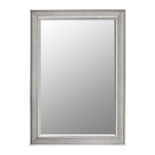 SONGE Mirror IKEA Safety film  reduces damage if glass is broken. Can be hung horizontally or vertically.