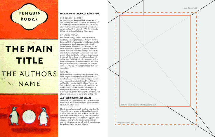 Jan Tschichold coffetable book, Part 2. Graphic Designer: Emmelie Strand. Assignment: Creative two spreads in a coffeetable book about a historical person. Technique: Sketches that led to a finished product, performed in InDesign.