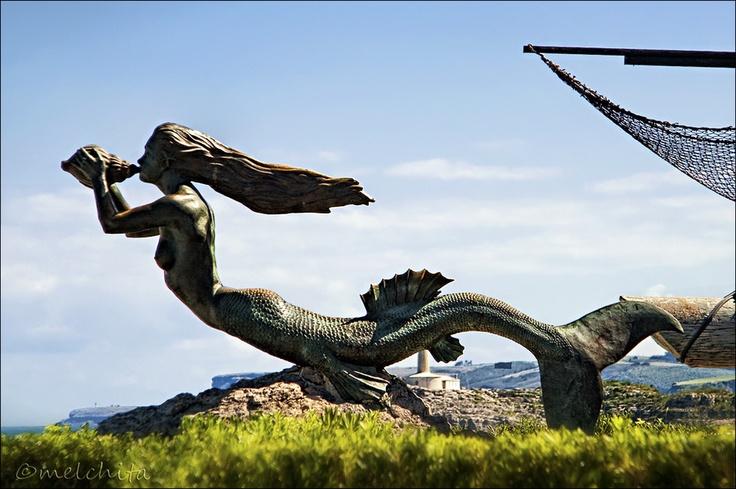 The Stranded Mermaid (La Sirena Varada) by Conchita Meléndez, via 500px