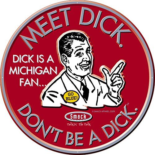 Ohio State Buckeyes Fans. Don't Be a Dick. Embossed Metal... http://www.amazon.com/dp/B018GLX7DQ/ref=cm_sw_r_pi_dp_evZrxb0MBC22R