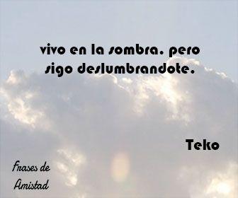 Frases de amor de rap de Teko