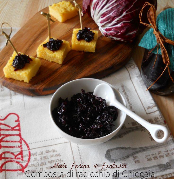 Composta di radicchio di Chioggia per antipasti, buffet, piatti a base di polenta, carne e pesce, formaggi stagionati e freschi.