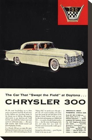 Stretched Canvas Print Chrysler 300 Most Powerful