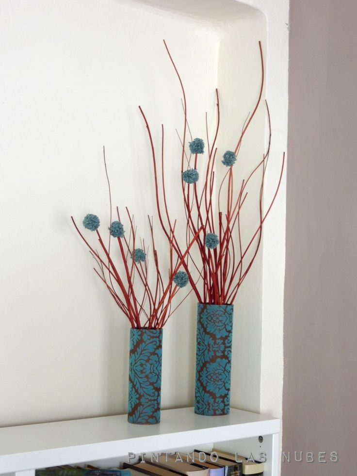 """Tutorial de un """"Jarrón"""" de flores recicladas con un tubo de """"Pringles"""""""