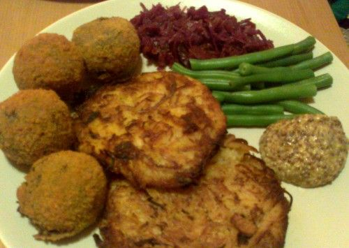 Breaded Haggis Balls with Neep & Tattie Rösti. Perfect for Burns Night!