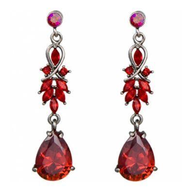 Dramatic red crystal drop earrings.  Scarlet Siren Earrings: £27