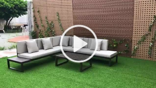 Uniq Habitat Decorat Uniqhabitatdecoration On Tiktok Modern Outdoor Furniture Aluminum Large Size L Shaped Sofa Coffee Table Corner Sofa Furniture Living Roo In 2020