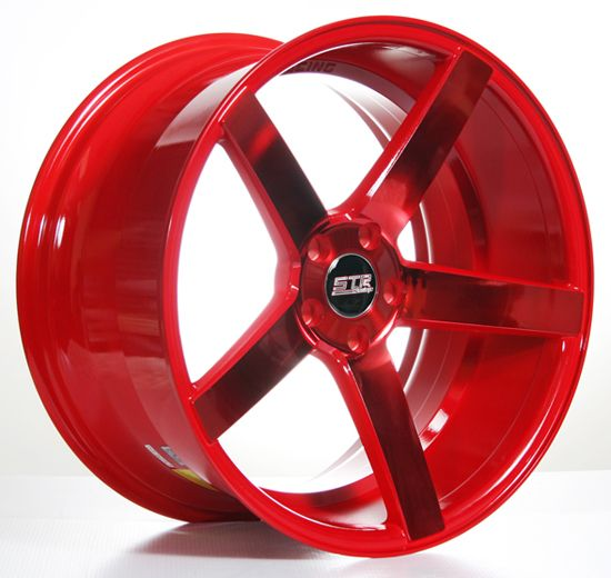 "20"" STR607 Red Wheels Deep Concave Rims #AudioCity"
