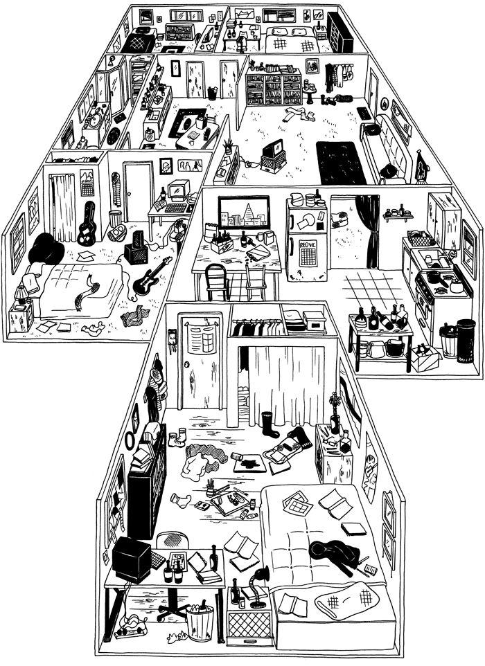 25 best preposiciones y adverbios de lugar images on for Apartment building layout