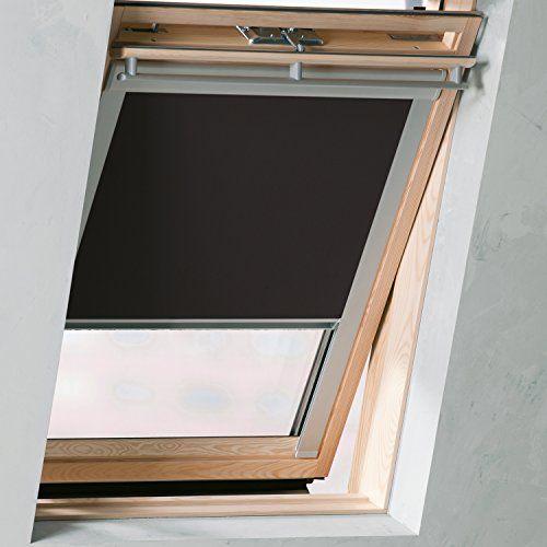 Verdunkelungsrollo: Rollo f�r Velux Dachfenster Schwarz 97x94 cm - S06/606/4 - GGL GPL GHL GTL GXL GDL GEL GGU GPU GHU