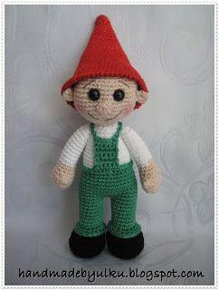 "Handmade by Ülkü: Amigurumi Gratis Anleitung ""Zwerg"" / Free Pattern Crochet Dwarf / Amigurumi Cüce Tarifi"