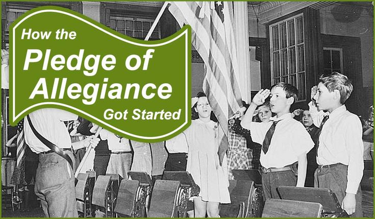 History of The Pledge of Allegiance. For many of us, school started each day with our right hand over our hearts, reciting the words to the Pledge of...