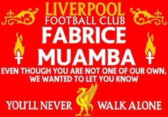 Banner made by Liverpool fans