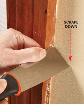 how to remove paint drips i wanna try this in my apartment cause the landlord  didnt do it and im ocd