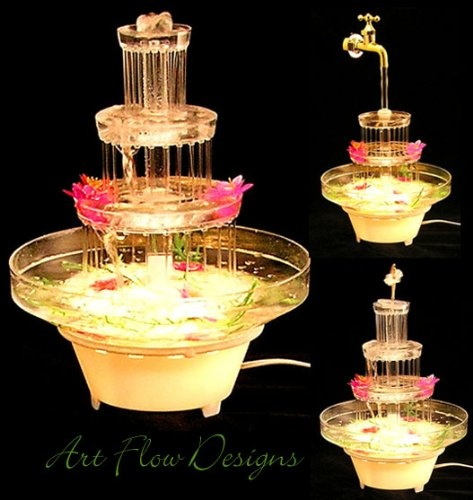 Wedding Cake Water Fountain 4t Beverage Punch Bowl Cold
