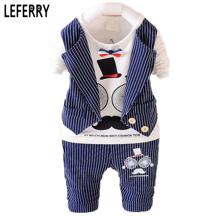 Baby Clothes Kids Boys Clothes Set Spring Striped Toddler Boys Clothing Sets Suits For Boys 2016 New Wedding Birthday Dresses