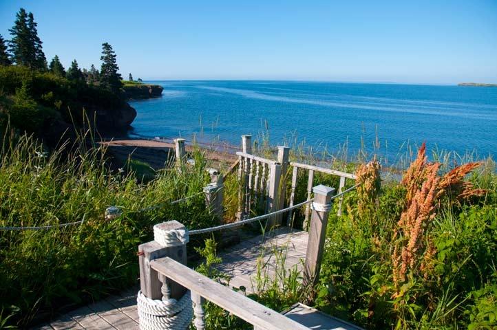 boardwalk to the beach, Maces Bay, New Brunswick, Canada