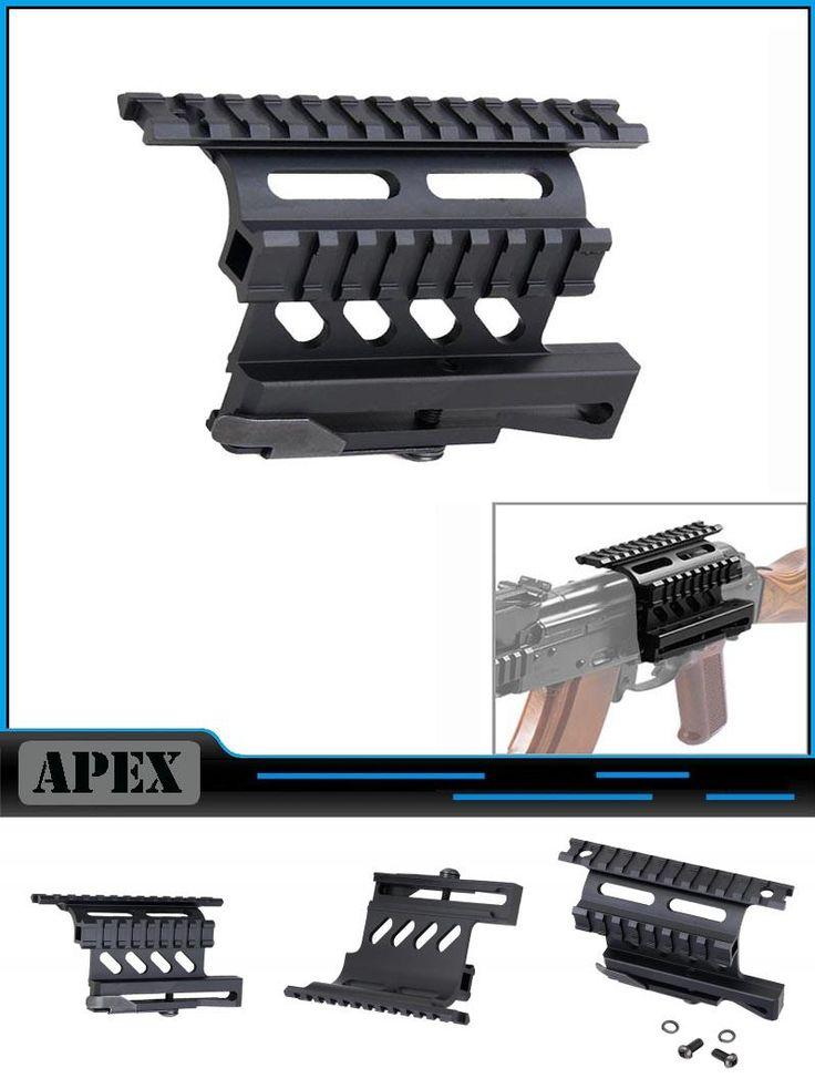 [Visit to Buy] Tactical AK Serie Rail Side Mount Quick QD Style 20mm Detach Weaver rail Double Side AK Scope Sight Mounts Rifle #Advertisement