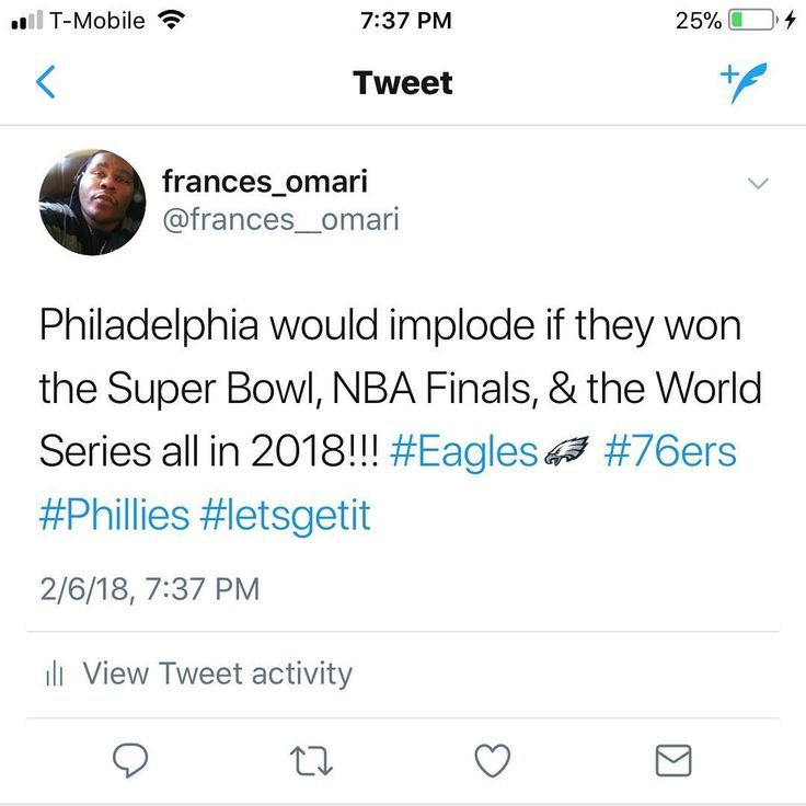 My 2018 predictions!!! Eagles win the Super Bowl The 76er take the NBA finals by surprise The Phillies take the World Series. The cherry on top would be @dannyswiftgarcia winning all titles and @meekmill coming home!!! Philly would lose their minds. @kevinhart would have no choice but to mob his way to the winners circle. #philadelphia #philadelphiaeagles #philadelphia76ers #76ers #philadelphiaphillies #phillies #SuperBowl #superbowl52 #nbafinals #nbafinals2018 #nbaplayoffs #nbachampionship…