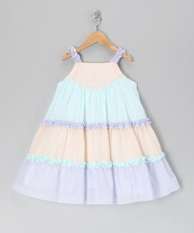 Take a look at this Lavender Gingham Ruffle Swing Dress - Infant & Toddler by Petit Ami on #zulily today!