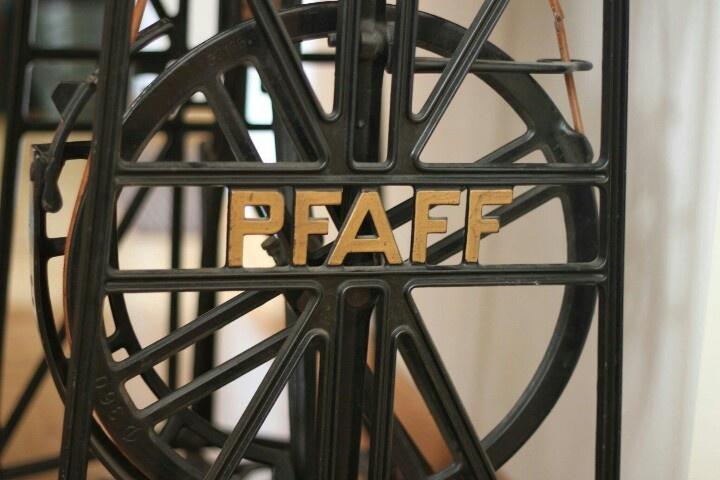 PFAFF TREADLE SEWING MACHINE, late 1800's. Found at UNIMARKT FLOHMARKT IN Mainz, Germany.