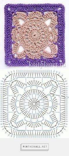 Lacy looking #crochet granny square. I think I saved one like it then found there was no pattern when I went to try it. THIS one comes with its own stitch graph/chart. #ThankYou! – Kate Thompson