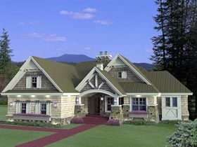 House Plan 42652 | Craftsman    Plan with 1971 Sq. Ft., 3 Bedrooms, 3 Bathrooms, 2 Car Garage