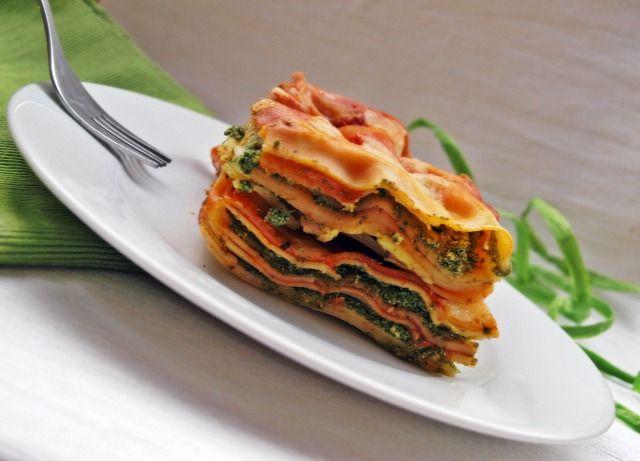 lasagne ricotta paradicsomszósz spenót sonka fincsi ebédek fokhagyma mozarella