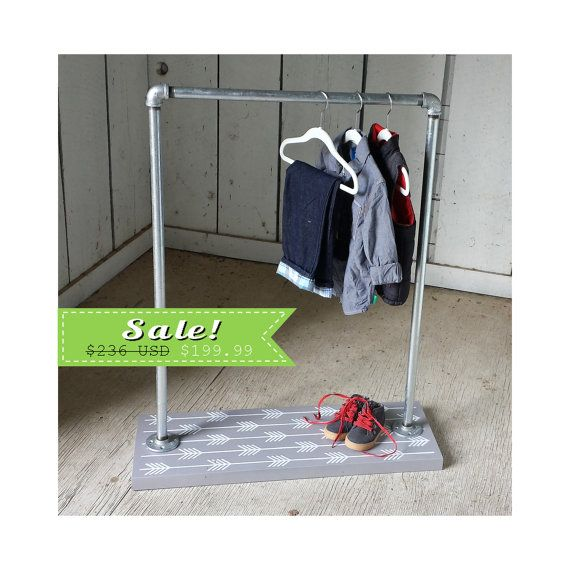 Children's Clothing Rack - Modern Kids Clothes Rack - Gender Neutral - Childrens Furniture -
