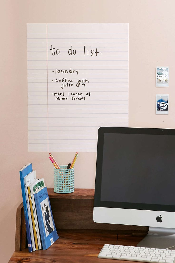 1510 best condo decor images on pinterest apartment ideas walls need love dry erase notebook wall decal amipublicfo Images