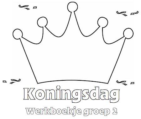 Koningsdag Werkboekje Groep 2 - Klaarwerk.nl