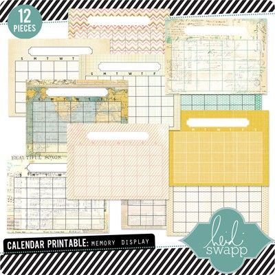 PRODUCT COLLECTIONS Scrapbook - Elements - Calender, #, letter