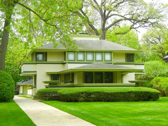 J kibben ingalls house frank lloyd wright prairie style for Frank lloyd wright stile prateria