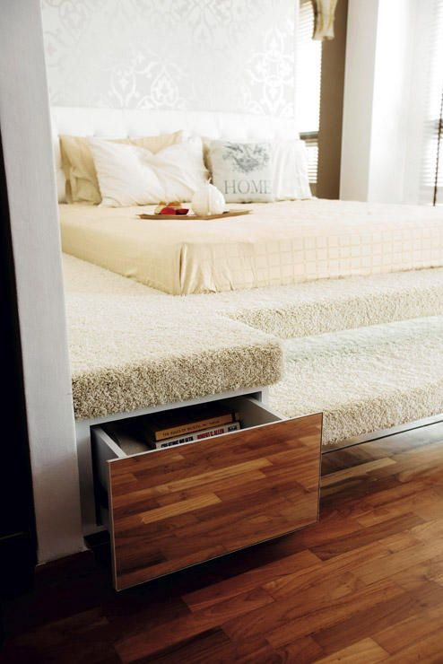 I Like The Idea If A Platform Bed With Storage Space