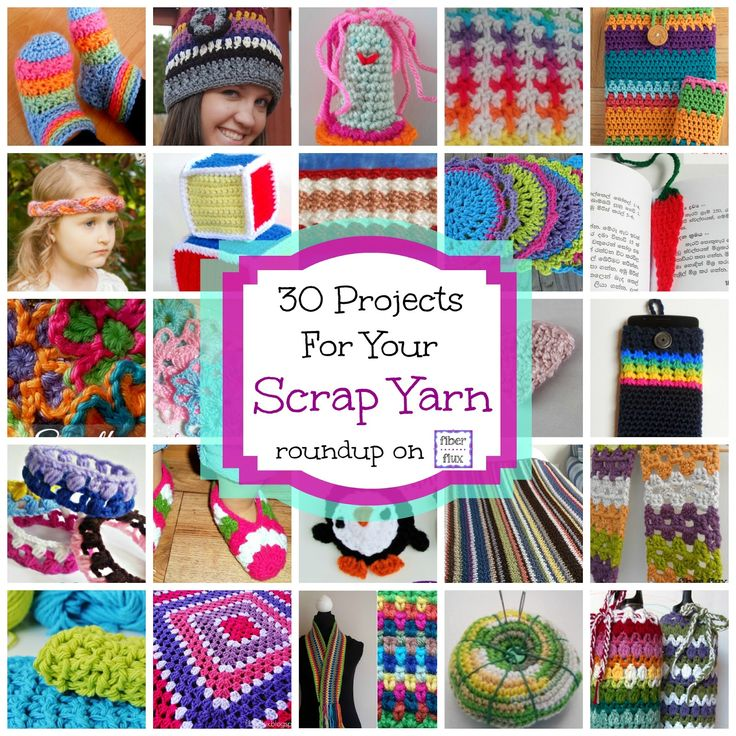 30 Free Crochet Projects for Your Scrap Yarn!