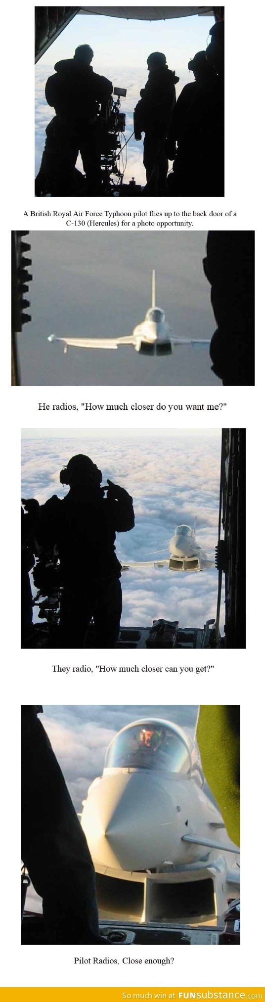 Photographing a fighter pilot