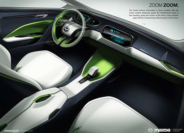 Wards automotive mazda islands of luxury by johad - Car interior design ...