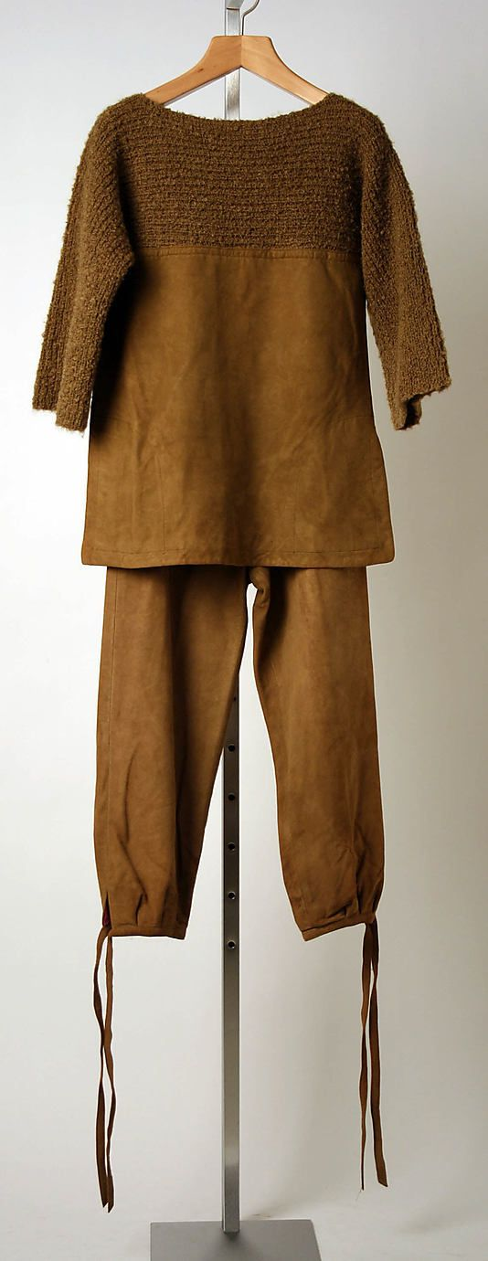 Bonnie Cashin pantsuit in leather and wool. 1960. Gift of Helen and Philip Sills Collection of Bonnie Cashin Clothes, 1979. The Metropolitan Museum of Art online collection.