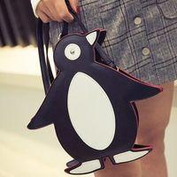 Милые Мода Пингвин Пу Кожа Сумки Посыльного Небольшой Размер Девушке Подарок Оптовая