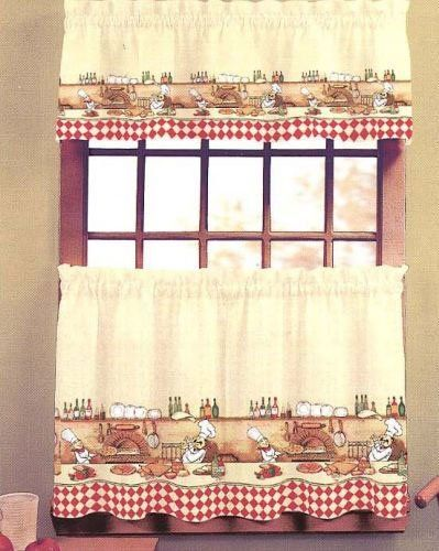 Chefs   Valance Kitchen Curtain By CHF Industries. $9.79. Machine Washable.  Chefs