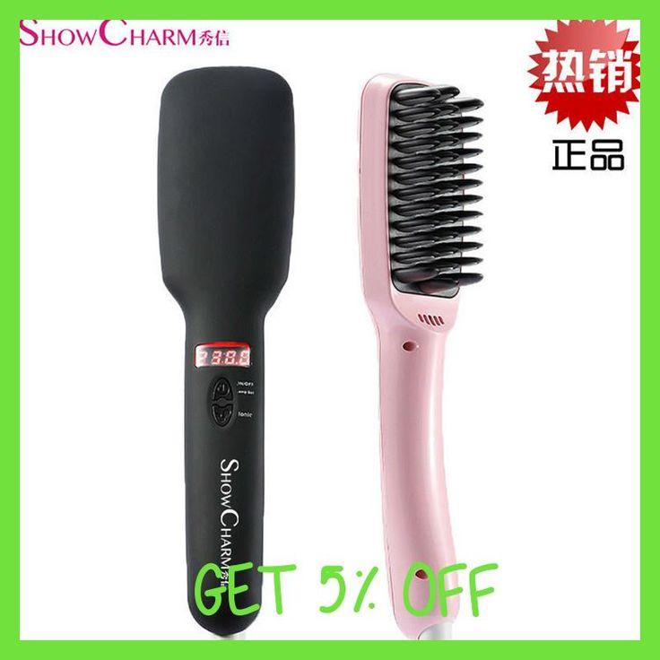 On TV Electric Heated Ceramic Professional Ceramic Hair Straightener Hair Brush escova de cabelo ferramentas plancha de cabello