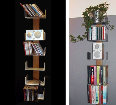 This page has a bunch of really cool shelving ideas! http://www.apartmenttherapy.com/8-best-small-space-shelving-so-41754