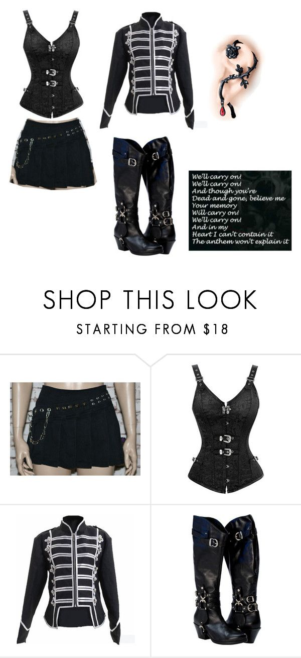 """""""the black parade"""" by ziadvil on Polyvore featuring Tripp"""
