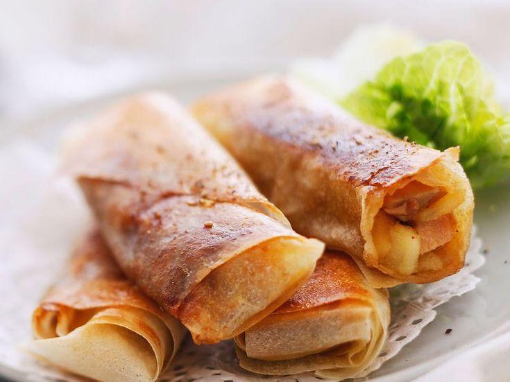 Découvrez la recette Nems au foie gras sur cuisineactuelle.fr.