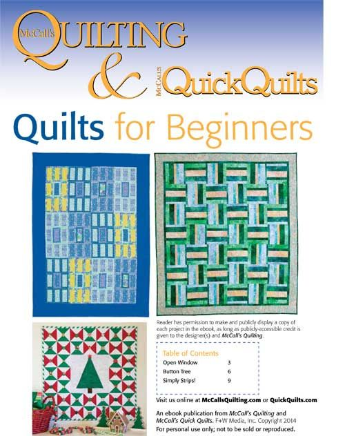 Beginner Quilt Patterns Free Download : 206 best images about Free Quilt Patterns from McCall s Quilting and McCall s Quick Quilts on ...